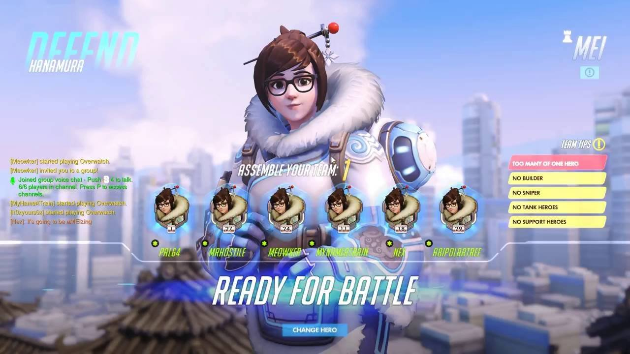 COME WHAT MEI - PC Overwatch custom game night
