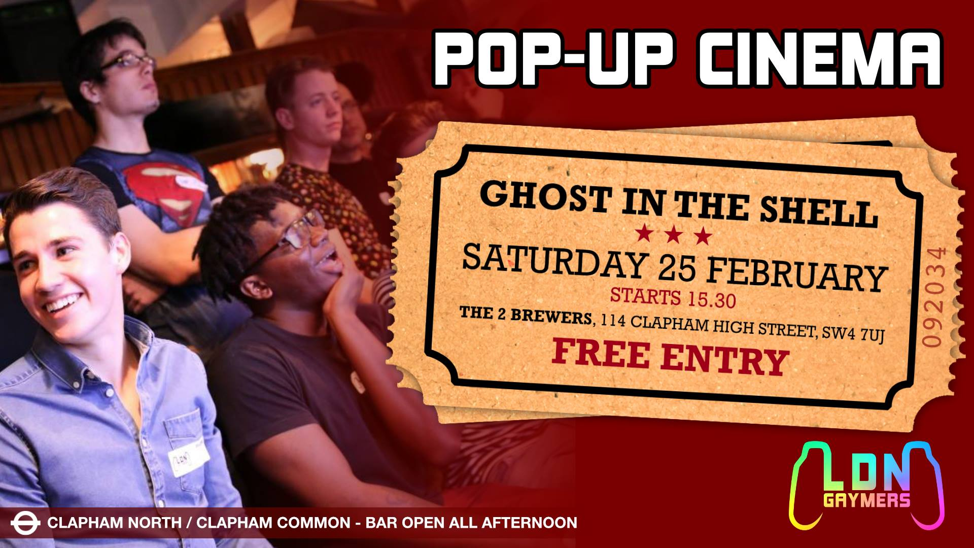 Pop Up Cinema - Ghost In The Shell - LDN Gaymers