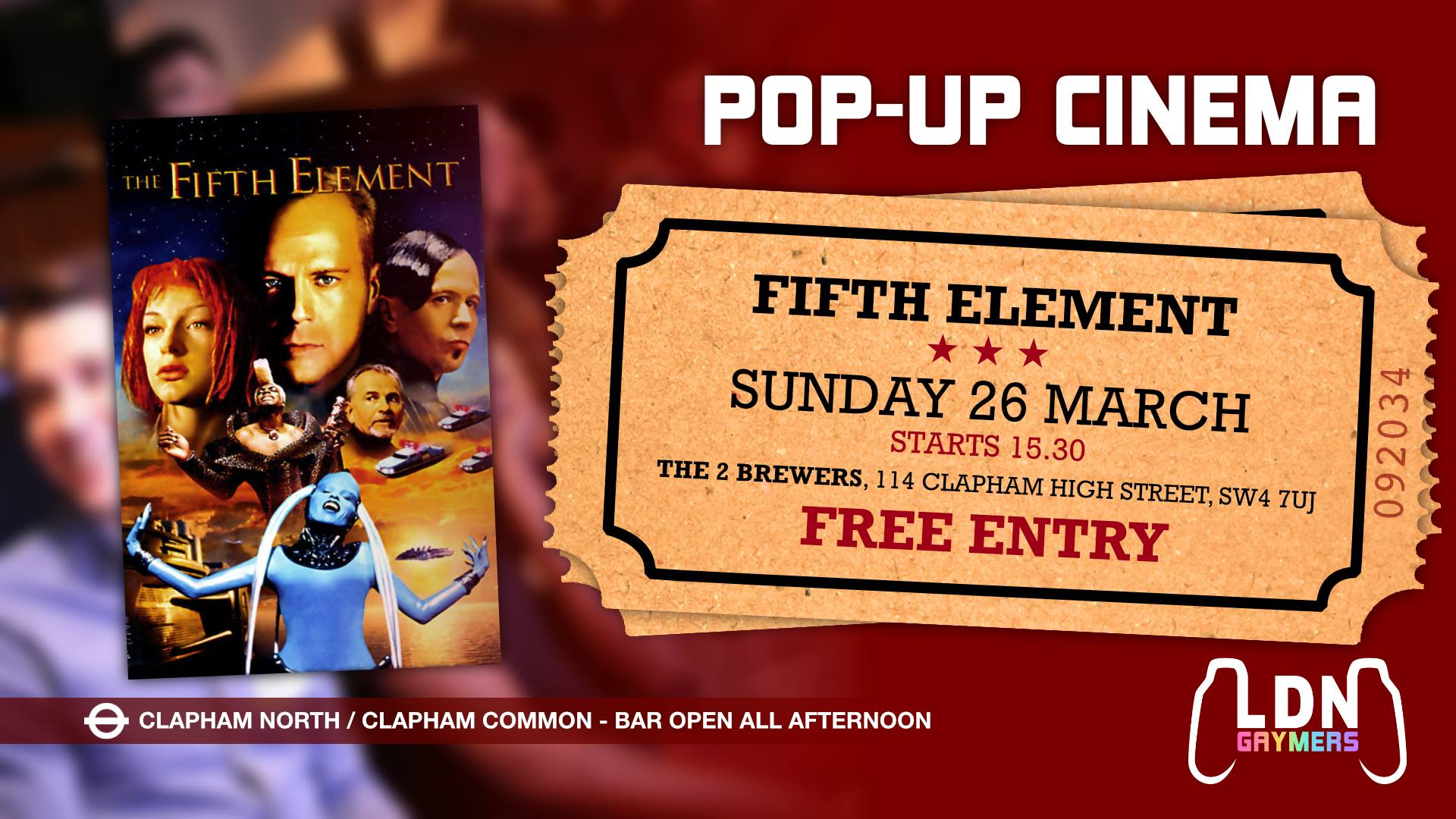 Pop-up Cinema: The Fifth Element