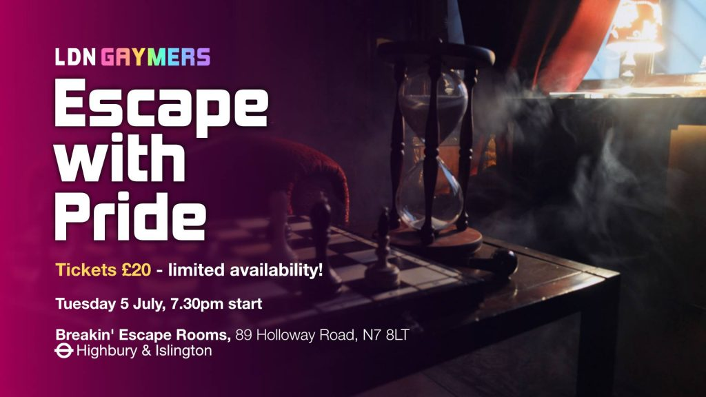 LDN Gaymers: Escape with Pride