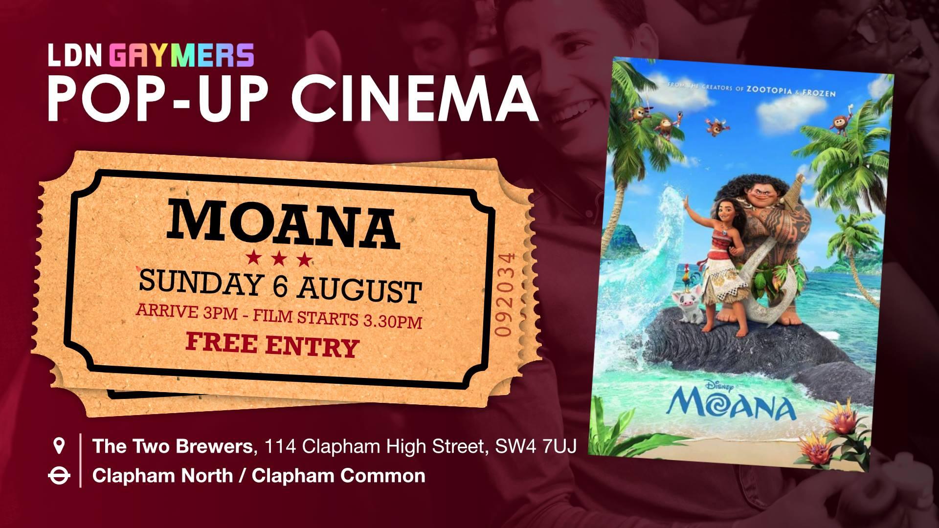 Popup Cinema: Moana
