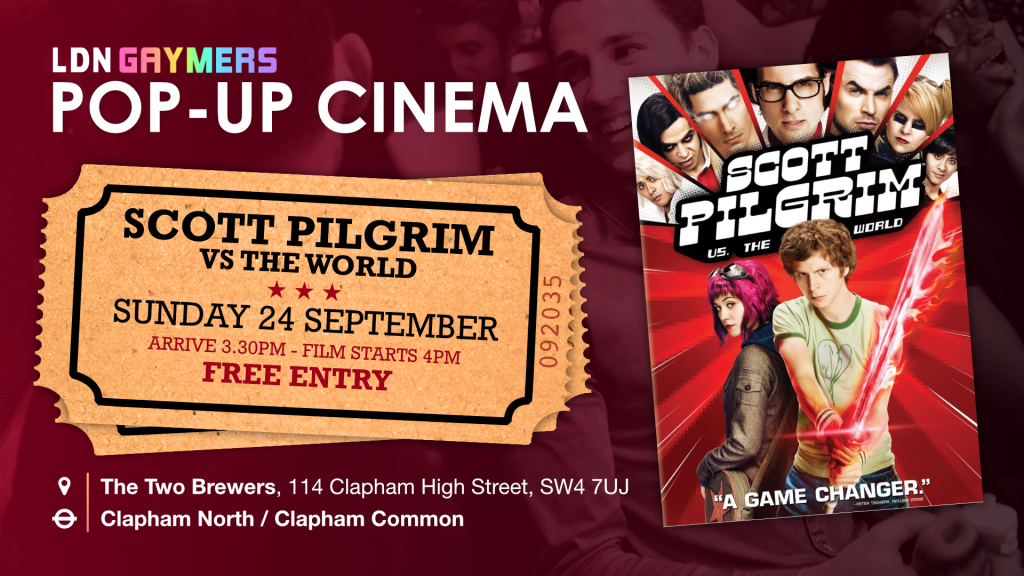 LDN Gaymers Pop-up Cinema - Scott Pilgrim vs The World