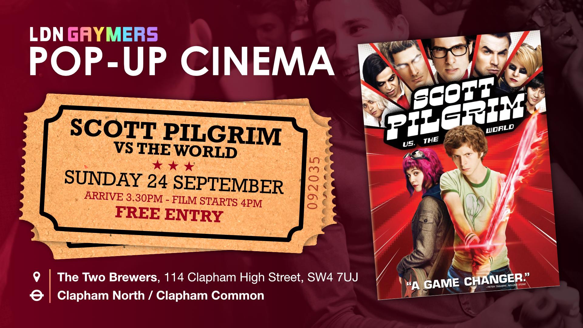LDN Gaymers Pop-up Cinema - Scott Pilgrim vs The World
