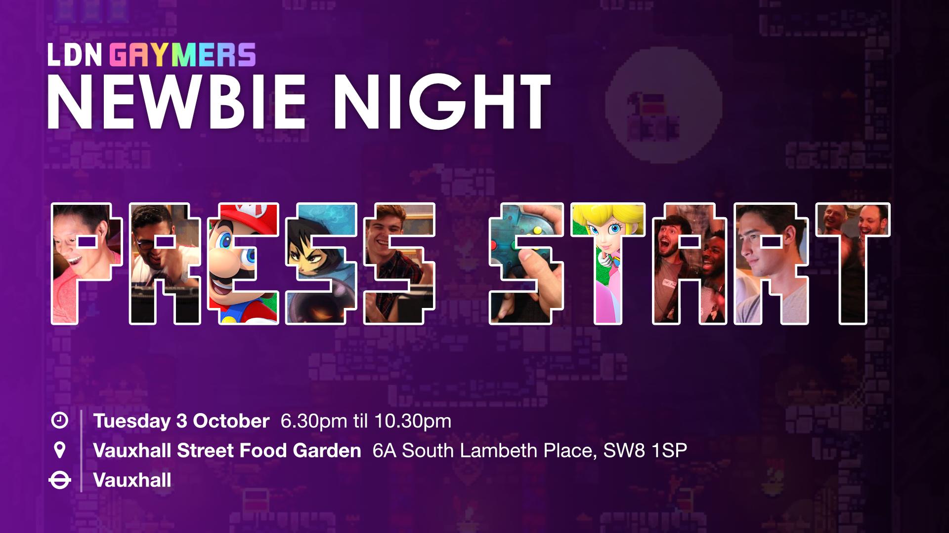 LDN Gaymers: Newbie Night (October 2017)
