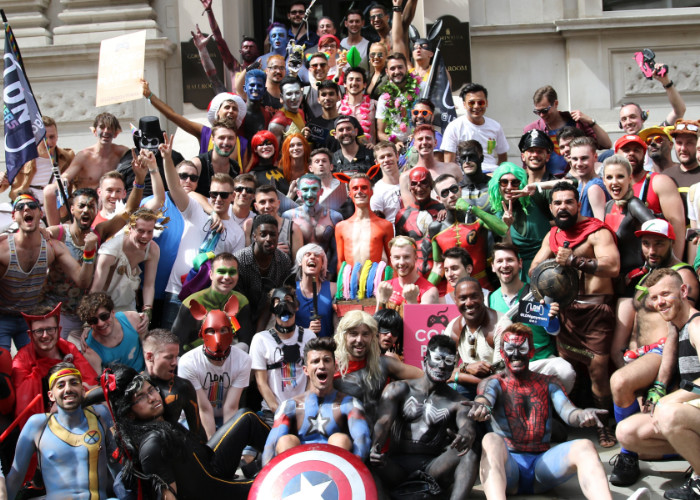 We're proud to march at Pride in London every year, with our superheroes showing their stripes in cosplay and body paint